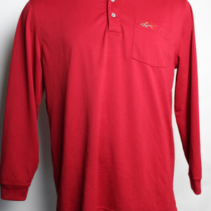 Greg Norman Large Long Sleeve Polo Shirt
